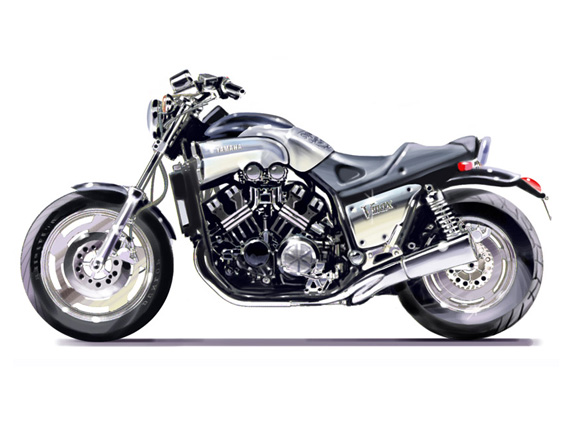 Restyling Vmax.<br>Yamaha<br>1993